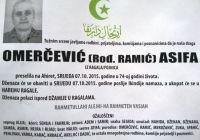 Omerčević (rođ. Ramić) Asifa