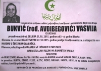 Bukvić (rođ. Avdibegović) Vasvija