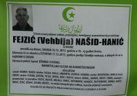 Fejzić (Vehbija) Našid - Hanić