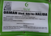 ORMAN ( ROĐ. BALTA ) HALIDA